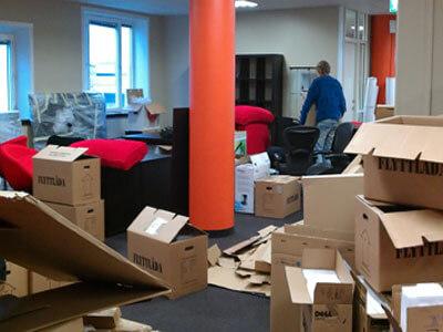 Погрузка офисной мебели